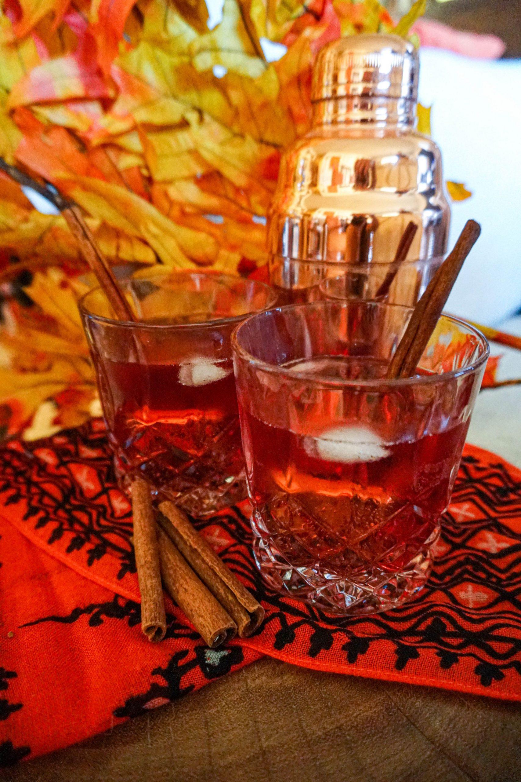 Cranberry rum smash