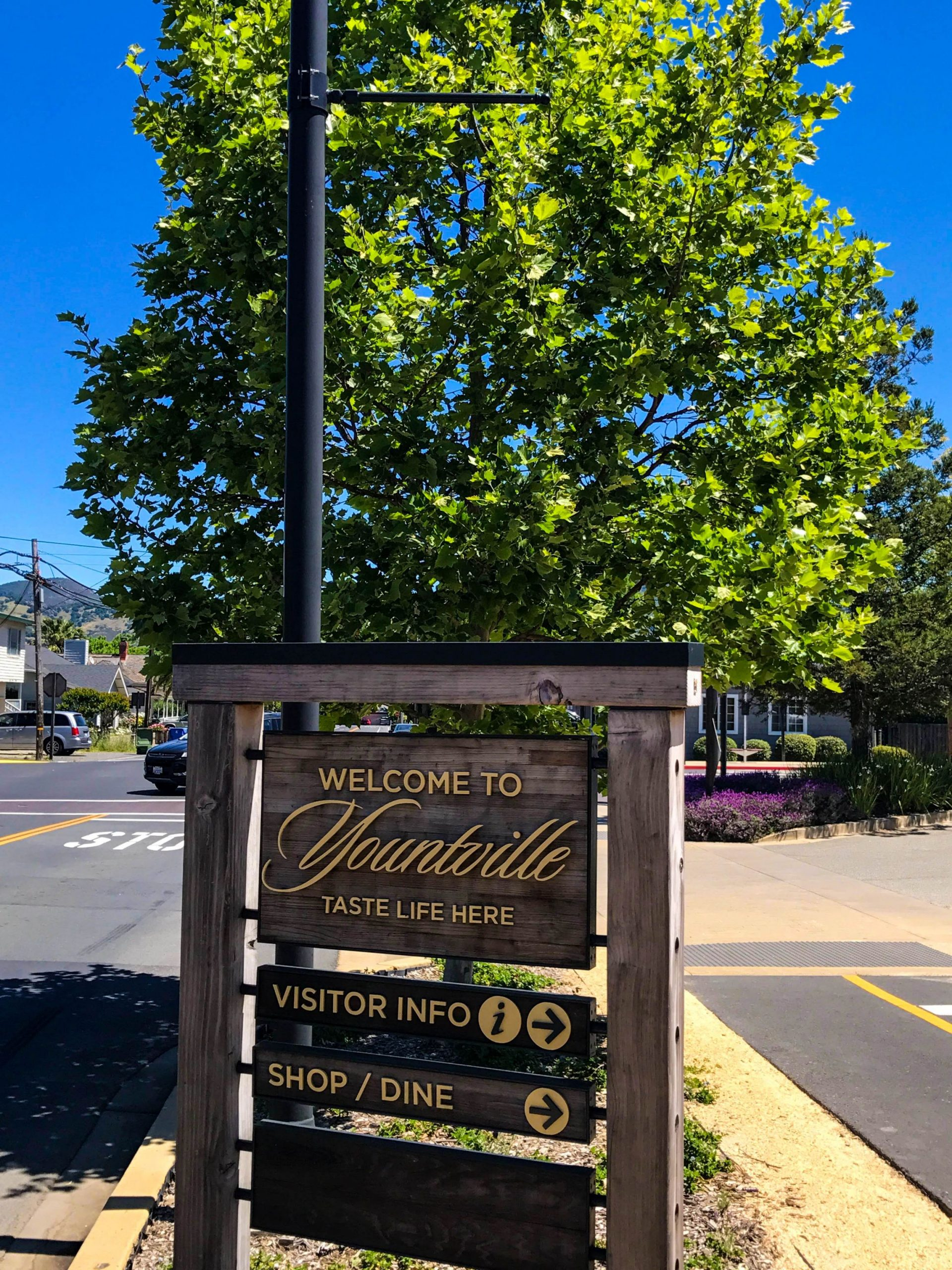 Visit Yountville for great shopping, food and wine!