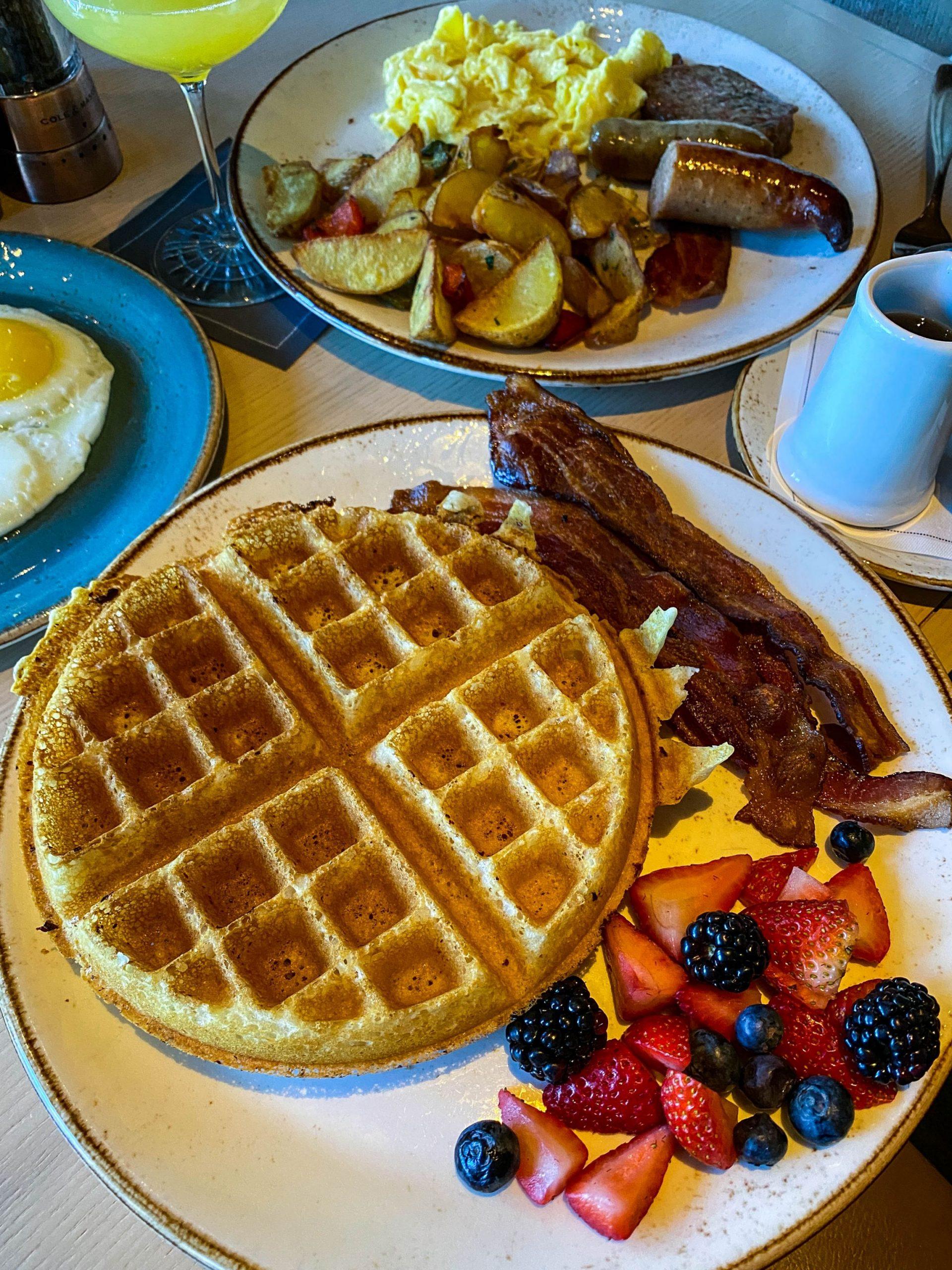 An elegant breakfast at The Bistro Bar at Edgewood Tahoe