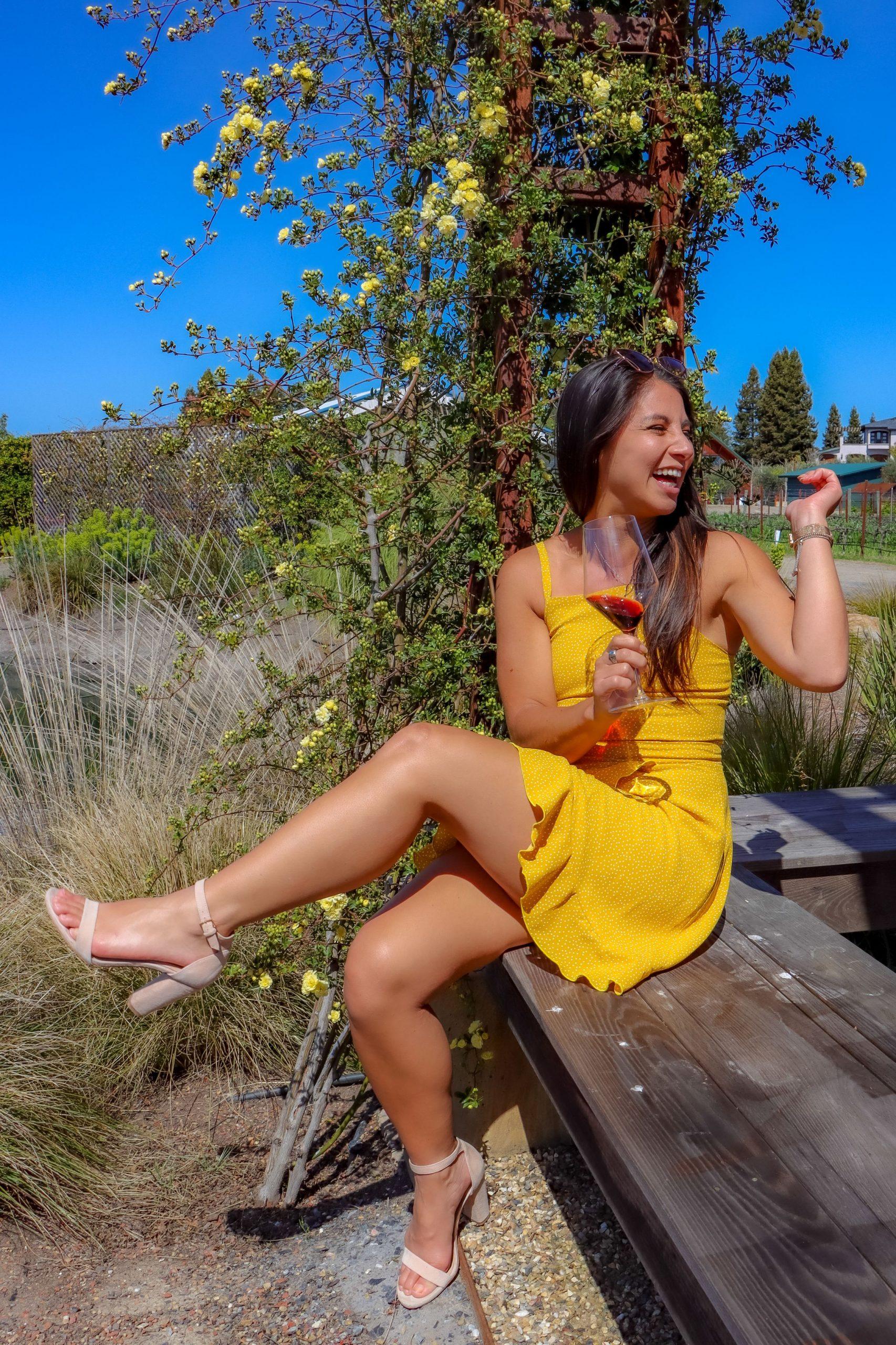 Wine tasting at Bricoleur in Sonoma County.