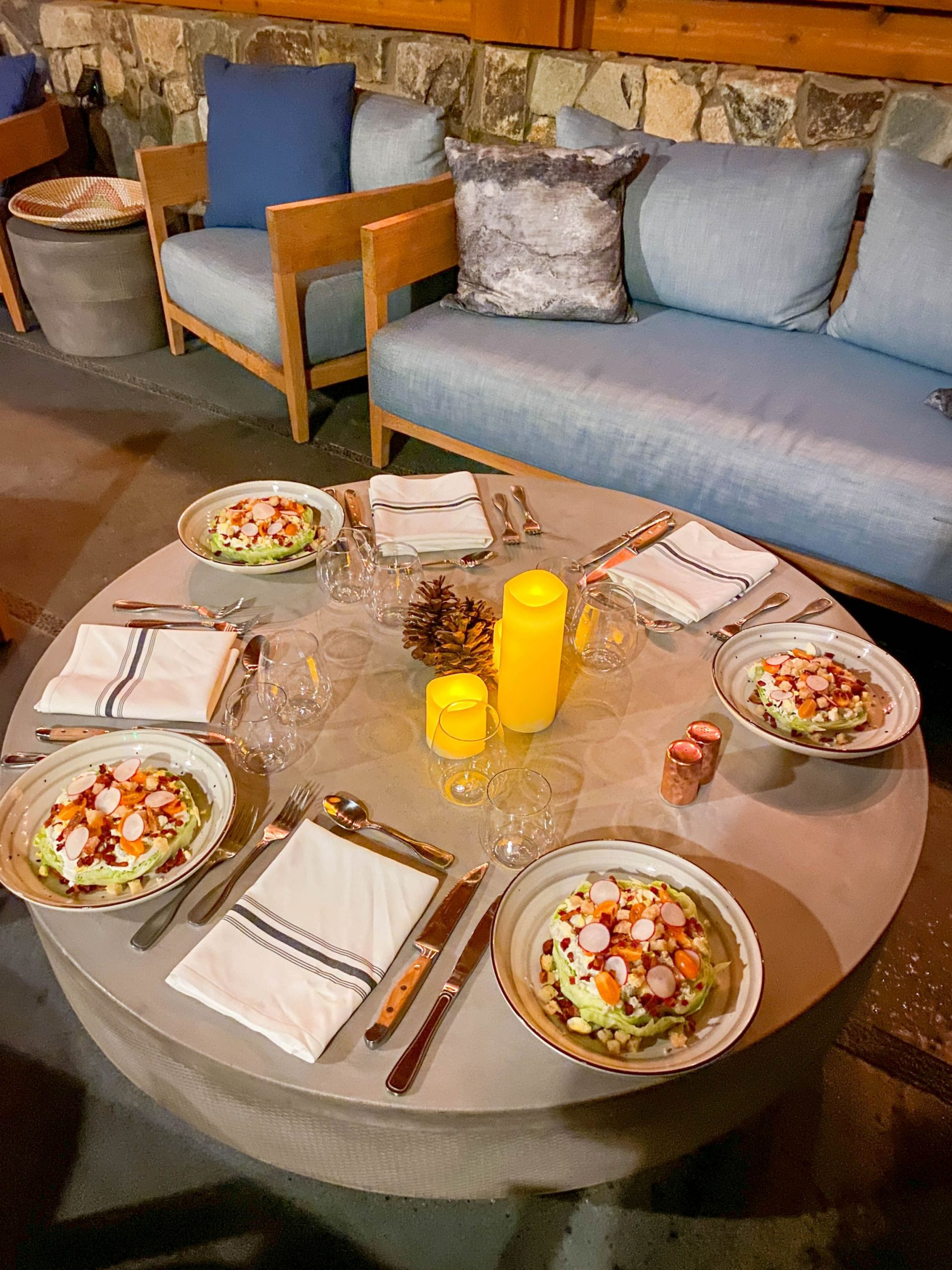 Private dining experience at Rush Creek Spa