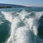 bateau lac ecume