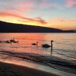 coucher de soleil plage saint jorioz