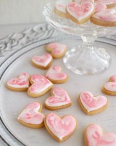 マーブルアイシングクッキー, 簡単可愛いアイシングクッキー, バレンタイン, バレンタインアイシングクッキー