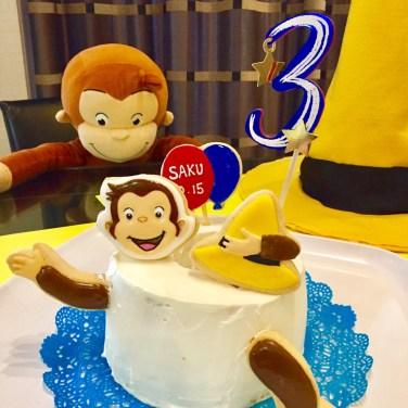 birthday, birthdayicingookie, icingookie, happybirthday, 誕生日アイシングクッキー, birthdaycake, おサルのジョージ