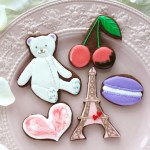 valentine, バレンタインレッスン, バレンタインアイシングクッキー, テディベアクッキー, テディベアアイシングクッキー