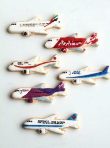 飛行機クッキー型, 飛行機アイシングクッキー, airplaneicingcookie, ordermade