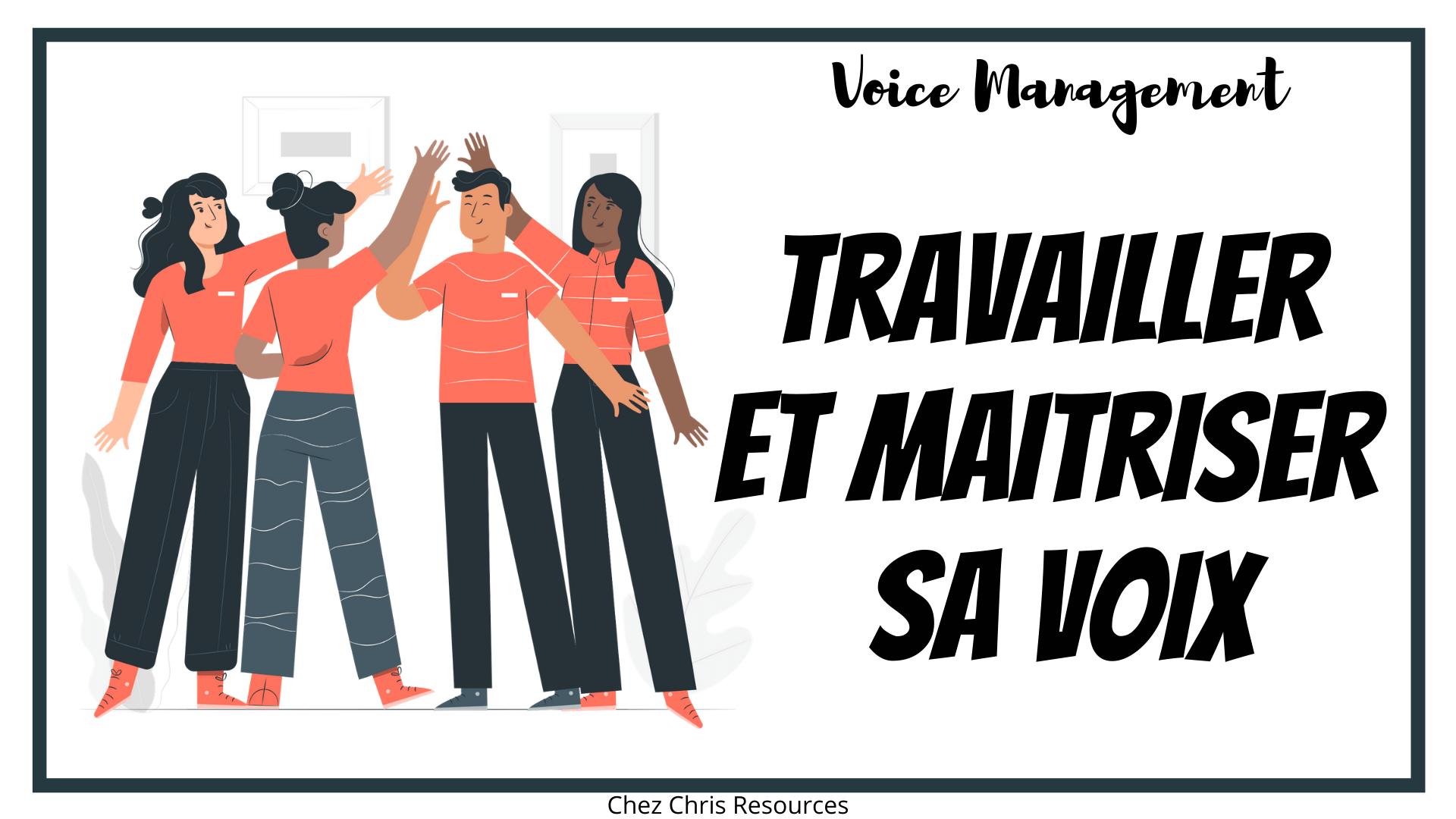 Voice management – la maîtrise de la voix en cours d'anglais