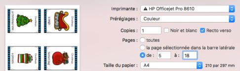 Réglage de l'imprimante