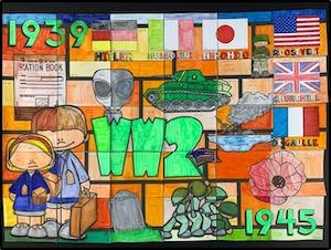 Poster collaboratif sur la seconde guerre mondiale