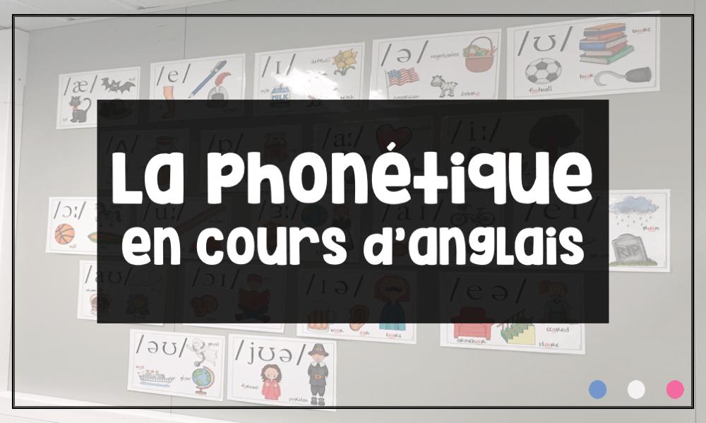 La phonétique, en cours d'anglais