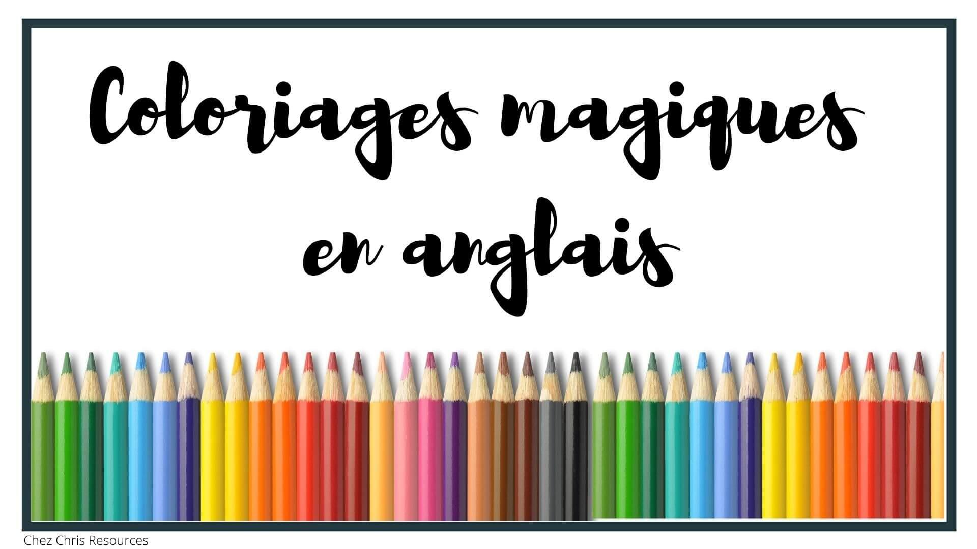 les coloriages magiques en anglais: image de couverture de l'article de blog