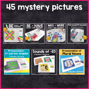 BUNDLE: English Grammar Mystery Pictures