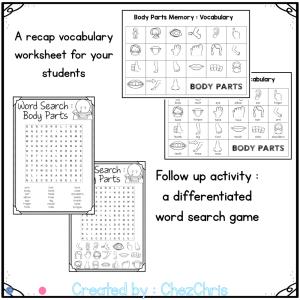 Body Parts Vocabulary