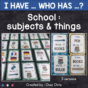 School subjects and things