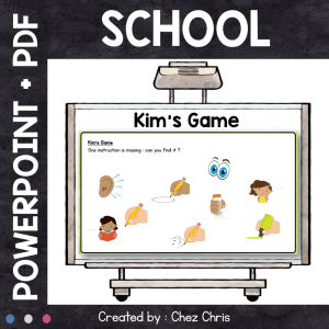 Kim's Game – School