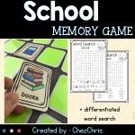 school things memory game