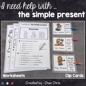 Simple Present : Worksheets and Clip Cards