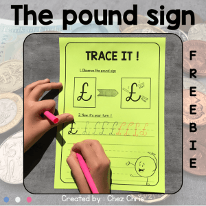 UK Money – Draw the pound sign