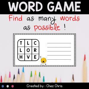 Word Game for your Fast Finishers