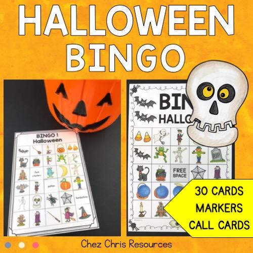 couverture du bingo d'Halloween