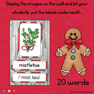 December : Christmas Word Wall Words