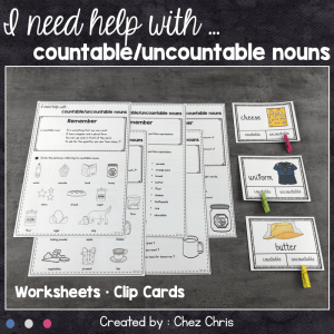 Countable, Uncountable Nouns