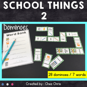 Dominoes School Things – 2