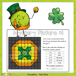 St Pat's Day Diphthongs – 6 mystery pictures