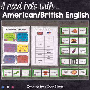 I need help with … American English and British English