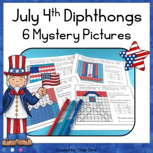 Independence Day Vowel Diphthongs  – 6 Mystery Pictures