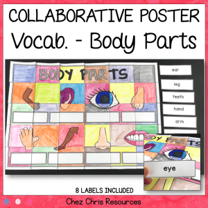 Body Parts Vocabulary – A Collaborative Poster