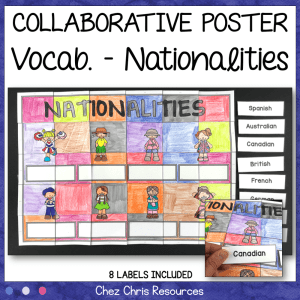 Nationalities Vocabulary – A Collaborative Poster