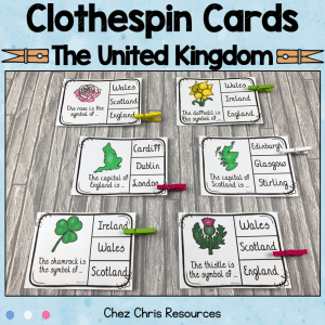 The United Kingdom Clothespin Clip Cards
