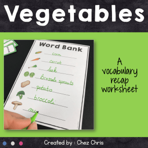 Dominoes : Vegetables Vocabulary
