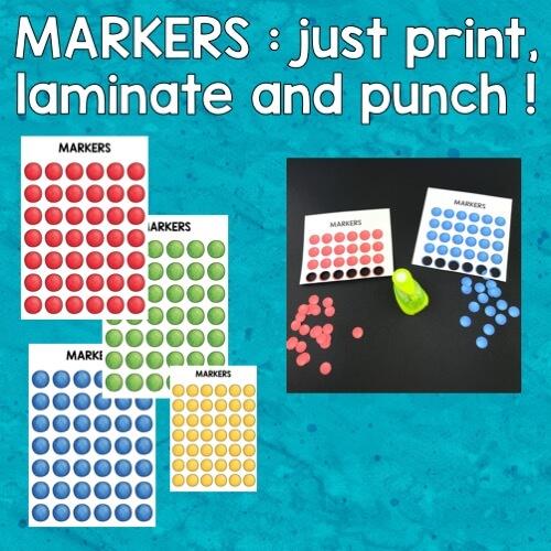 vignette montrant le matériel du bingo du matériel scolaire en anglais