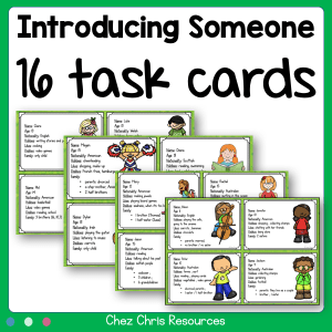 Identity Cards : Introduce Someone !