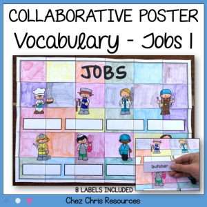 Jobs Vocabulary Collaborative Poster – Poster 1