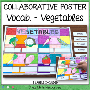 Vegetables Vocabulary Collaborative Poster