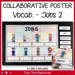 Poster collaboratif sur les métiers en anglais