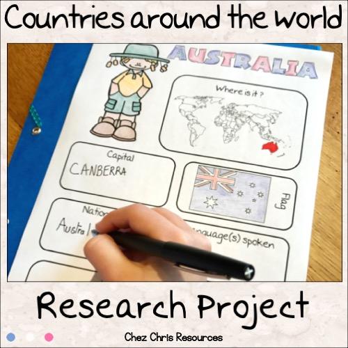 couverture exposé de géographie en anglais