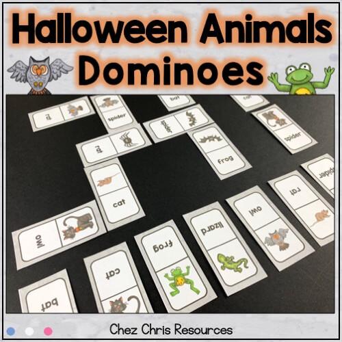 image de couverture de la ressource : les dominos - les animaux d'Halloween
