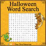 """Couverture de la ressource """"les mots cachés d'Halloween"""" montrant la grille"""