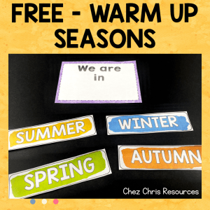 Warm Up Activity : Seasons