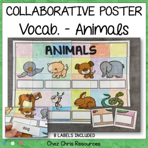 Animals Vocabulary Collaborative Poster
