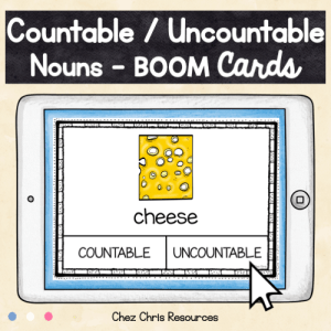 BOOM Cards : Countable and Uncountable Nouns