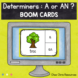 BOOM Cards : Determiners (Articles) A / AN
