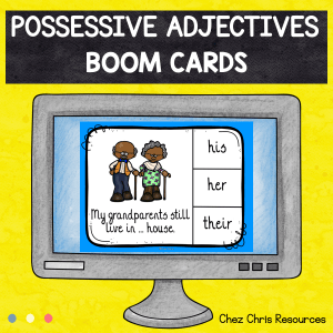 BOOM Cards : Possessive Adjectives