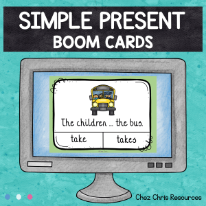 BOOM Cards : Simple Present Subject Verb Agreement