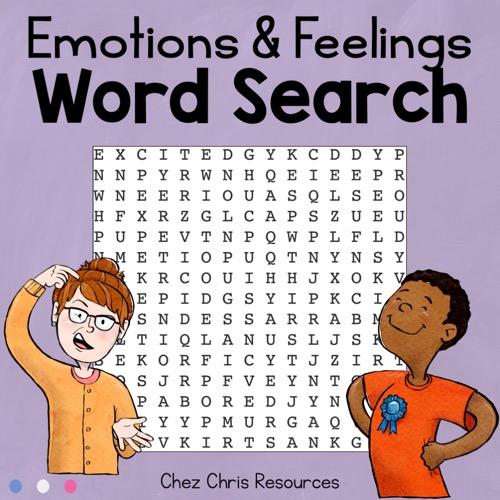 Couverture et vignette de la ressource gratuite consacrée au vocabulaire des émotions et des sentiments en anglais